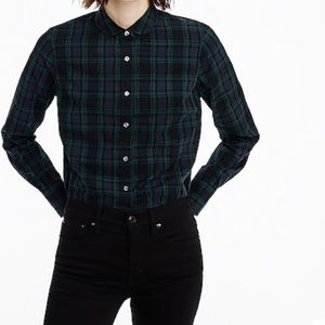 NWT J Crew Club Collar Perfect Shirt Black Watch 6